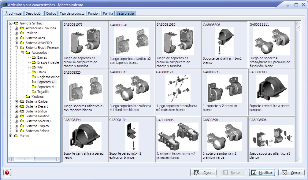 Ingnio software toldos fabricantes e instaladores corte for Accesorios para toldos de balcon